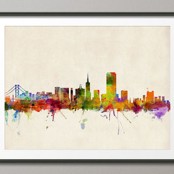 San Francisco Skyline, Art Print (454)