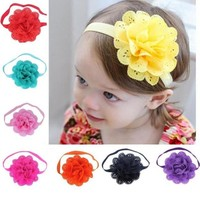 8pcs Hair Band Flower Crown Elastic Hair Bands For Girls Photography Accessories Kinderkleding Meisjes#121