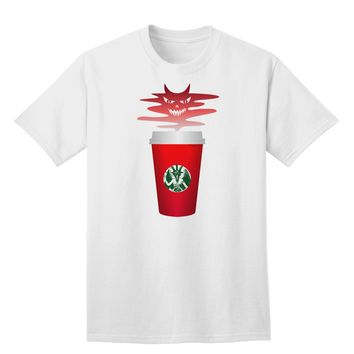 Red Cup Satan Coffee Adult T-Shirt