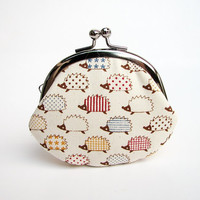 Clasp Change Purse Kawaii Hedgehog Coin Purse Earbud Holder