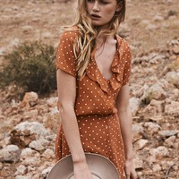 Lilly Day Dress Classic Polka Dot - Rust // PRE ORDER