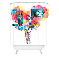 Randi Antonsen Flower 6 Shower Curtain
