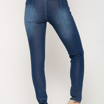 Stacked Button Highwaist Skinny Jeans