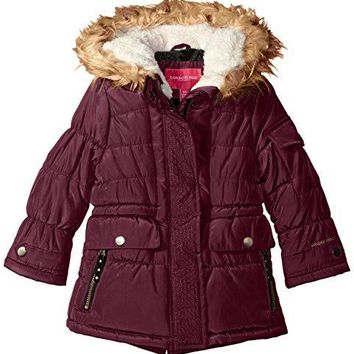 London Fog Girls' Heavyweight Expedition Parka with Print Lining Expedition Parka Coat
