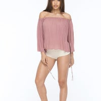 INDAH Lost Top | Dusty Rose