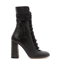 Chloé: Lace-Up Ankle Boot