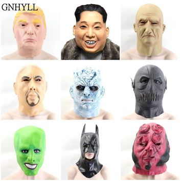 GNHYLL Trump Mask Latex Cospaly Mask Movie Party Masks Carnival Cosplay Props 12 Style