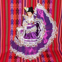 Peruvian Design Dolls with a typical costume of the coast.