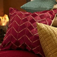 Phulkari Embroidered Pillow Cover