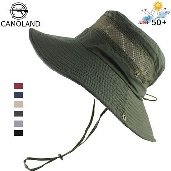 Light Sun Hat Bucket Summer Men Women Fishing Boonie UV Protection Large Wide Brim Outdoor Beach Cap Packable Mesh Quick Dry