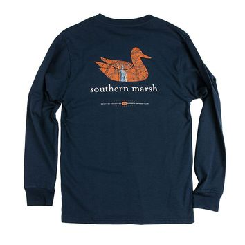 Authentic Virginia Heritage Long Sleeve Tee in Navy by Southern Marsh