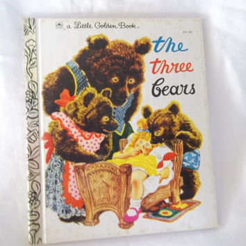 Vintage Childrens Book The Three Bears Little Golden Book