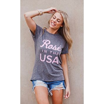 Rose In The USA Tee