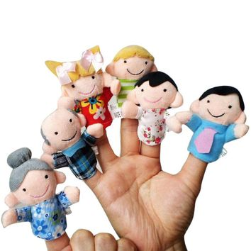 6 pcs Finger Puppets Christmas Gifts Baby Educational Toy Finger toys Finger puppet Family puppets
