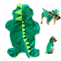 Puppy Dinosaur Hoodie Pet Dog Costume Clothes Coat Sweater
