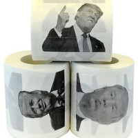Donald Trump Toilet Paper Set of 3 Rolls