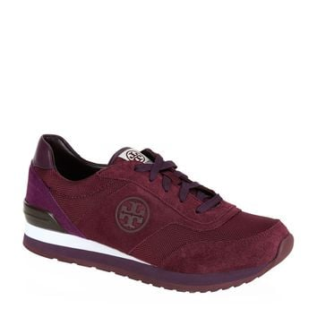 Tory Burch Gibb Logo Trainer Wine Multi | Harrods