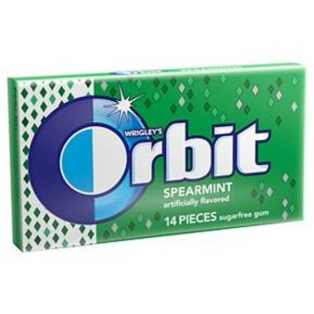 Orbit Spearmint Sugarfree Gum - 14 pieces