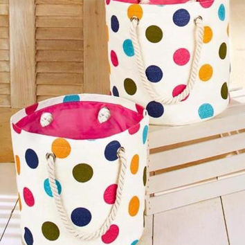 Storage Bag Set Large Cotton Beach Travel Sports School Dorm Laundry Crafts