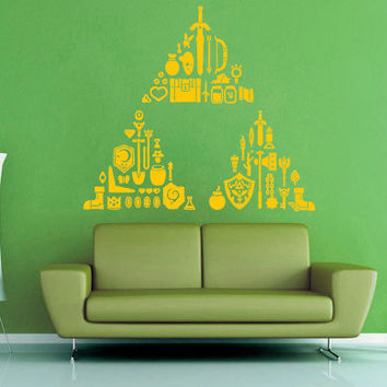 Triforce Treasure Trove - Zelda - Wall Vinyl - Large