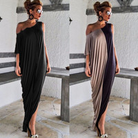 Two Tone: Tan & Black Sleeveless Vacay Dream Maxi