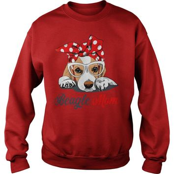 Bandana Beagle Mom  Sweat Shirt