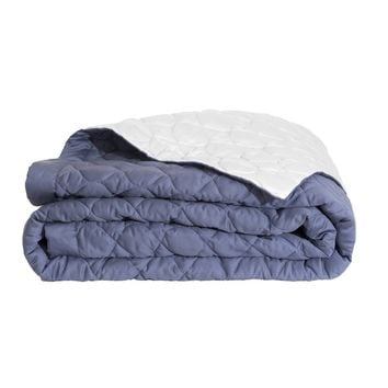 Montaigne Quilted Coverlet in Slate