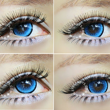 EOS New Adult Blytheye Blue Circle Lens Cosmetic Big Eye Colored Contacts Lenses | EyeCandy's