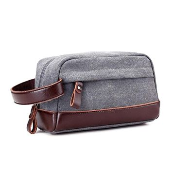 Canvas and leather Dopp Kit Travel Toiletry bag Shaving bag travel wash case