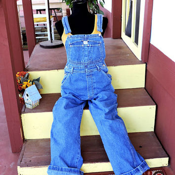 80s Calvin Klein Overalls / size S / 32 X 30 / vintage distressed stone washed Calvin Klein bib overall / denim bib over all jeans