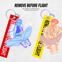 original: REMOVE BEFORE FLIGHT acrylic keychains by L1NG shop