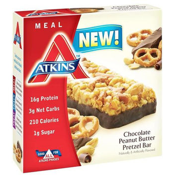 Atkins Advantage Bar - Chocolate Peanut Btr Prtzl - 5 Ct - 1.7 Oz - 1 Case