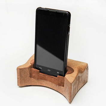 Smartphone Stand, a great gift. Tech lover gift. Wood iPhone Stand. Phone stand.