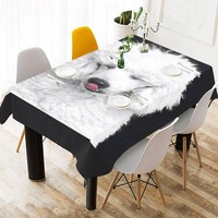 Tablecloth with poodle dog