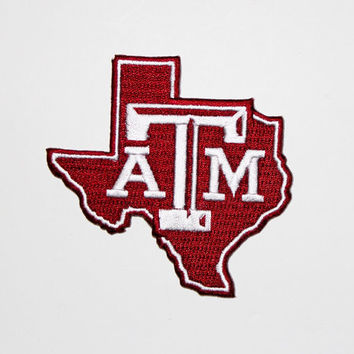 TEXAS A&M Embroidered patch......about  3 x 3 inches