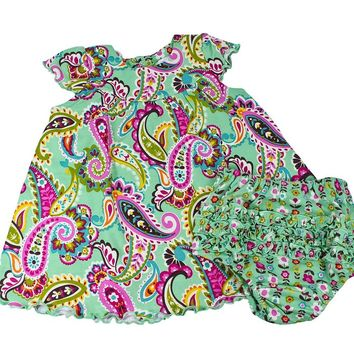 Vera Bradley Baby Girl's Dress and Ruffled Bloomers Set, Tutti Frutti 6-9 Mo
