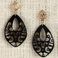Filigree Cutout Acrylic Petal Earrings