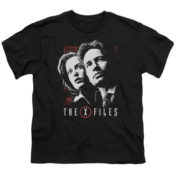 X Files - Mulder & Scully Short Sleeve Youth 18/1 Shirt Officially Licensed T-Shirt