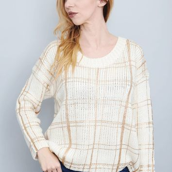 Rose Gold Grid Sweater