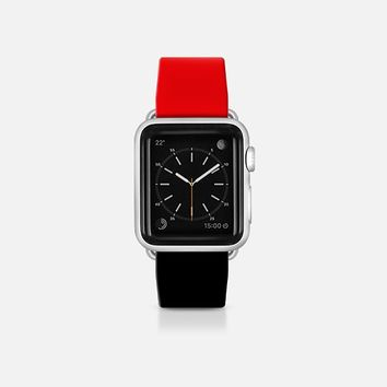 Red and black  - Bicolor collection Apple Watch Band (38mm)  by WAMDESIGN | Casetify