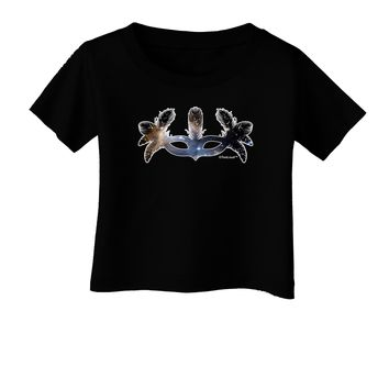 Galaxy Masquerade Mask Infant T-Shirt Dark by TooLoud