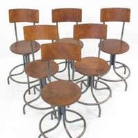 Lucca Antiques - Seating: Set of Six Belgian Stools