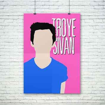 Troye Sivan Vector - Pink, Blue, Green, Red, Yellow - A3 Size Artwork, (Instant Download) , 300 dpi, Awesome Design Printing, Youtubers