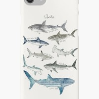 'Sharks' iPhone Case/Skin by Amy Hamilton
