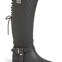 Women's däv 'Galway' Waterproof Quilted Tall Rain Boot,