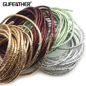 GUFEATHER P104/3MM PU Leather/jewelry accessories/accessories parts/jewelry findings/embellishments/leather Cord 500cm/bag