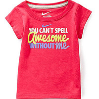 Nike 12-24 Months Awesome Short-Sleeve Tee - Dark Pink