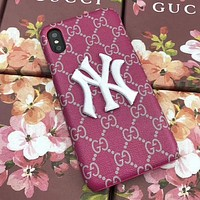 GUCCI NY Fashion iPhone Phone Cover Case For iphone 6 6s 6plus 6s-plus 7 7plus 8 8plus iPhone X XR XS XS MAX