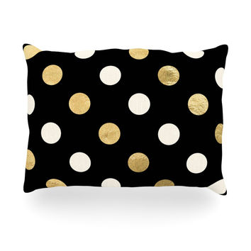 "KESS Original ""Golden Dots"" Oblong Pillow"