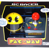 Pac-Man Wireless Infrared RC Racer Authentic Arcade Sounds Joystick Controller